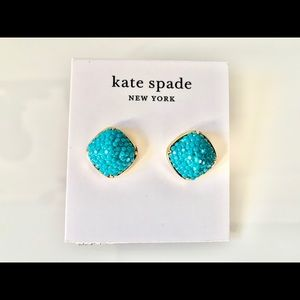 Gold Kate Spade Turquoise,stud Earrings 5/8""